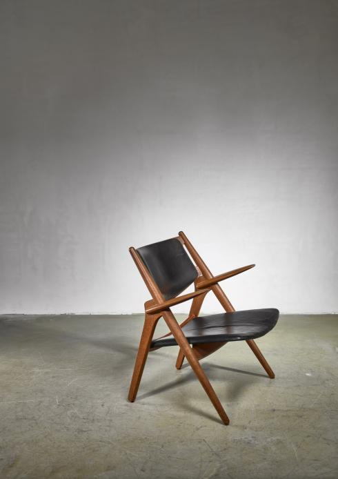 Bloomberry - Hans Wegner CH-28 or  Sawbuck chair for Carl Hansen