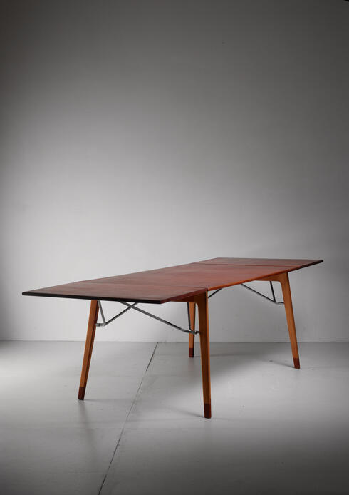 Bloomberry - Børge Mogensen Double Drop-Leaf Table for Søborg, Sweden, 1950s