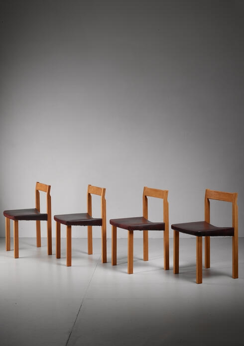 Bloomberry - Olavi Hanninen set of four 'Tuomas' dining chairs, Finland, 1950s