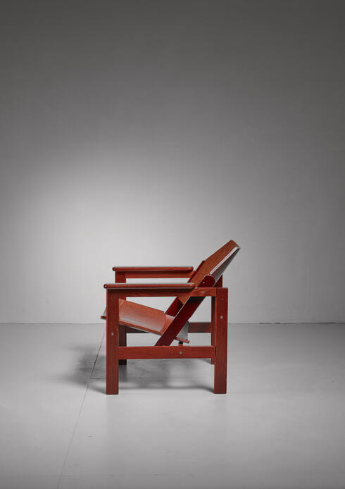 Bloomberry - Michel Arnoult wooden armchair, Brazil, 1950s