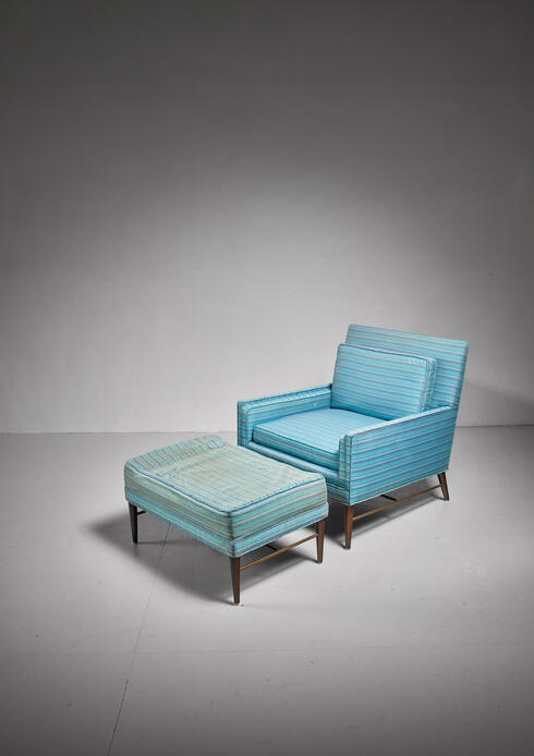 Bloomberry - Paul McCobb lounge chair with ottoman for Calvin, American, 1950s