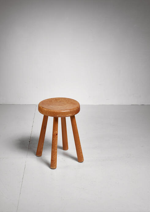 Bloomberry - Charlotte Perriand four-legged stool from Les Arcs, France