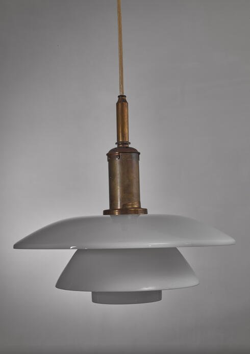 Bloomberry - Poul Henningsen white glass PH pendant, Denmark, 1920s