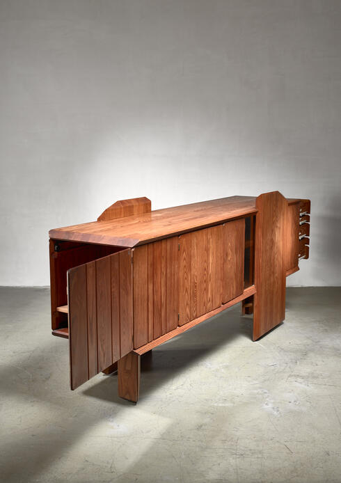 Bloomberry - Pierre Chapo custom-made dresser, France, 1960s