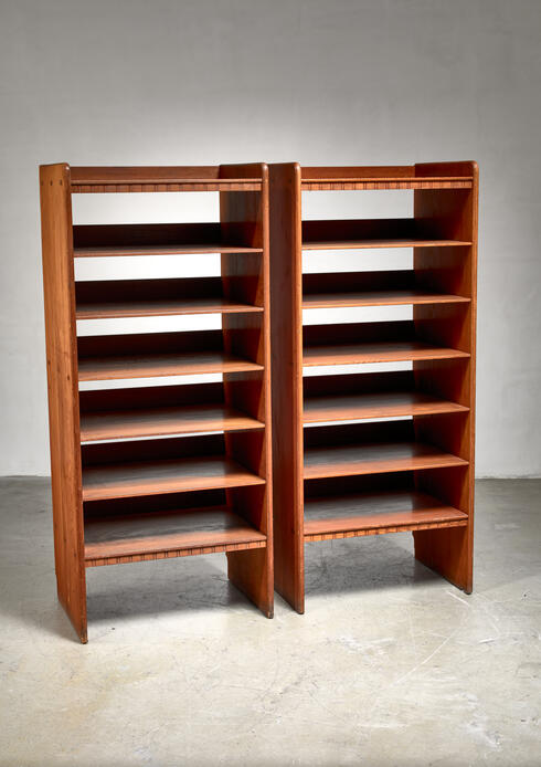 Bloomberry - Martin Nyrop pair of pine bookcases, Denmark, ca 1900