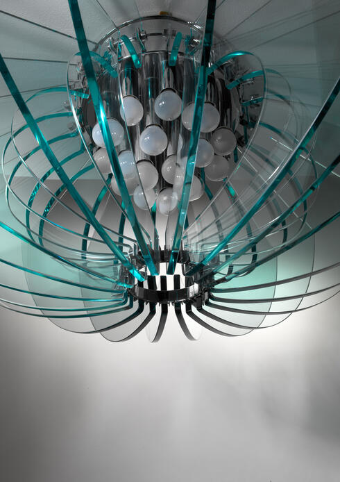 Bloomberry - Fontana Arte flush mount chandelier, Italy