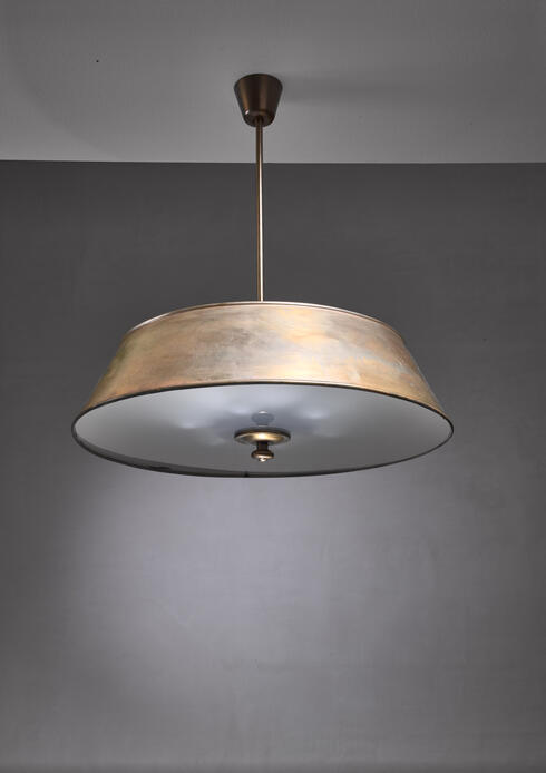 Bloomberry - Modernist brass pendant by Harald Notini, Sweden, 1930s