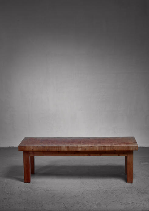 Bloomberry - Swedish pine bench or end table, 1960s