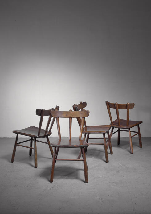 Bloomberry - Set of four Scandinavian dining chairs