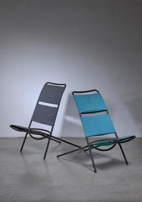 Bloomberry - Pair Ilmari Tapiovaara 'Congo' chairs