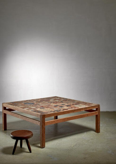 Bloomberry - Tue Poulsen coffee table, Denmark, 1960s
