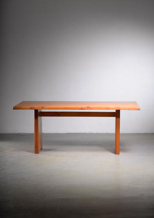 Bloomberry - Large Pierre Chapo dining table, France, 1960s