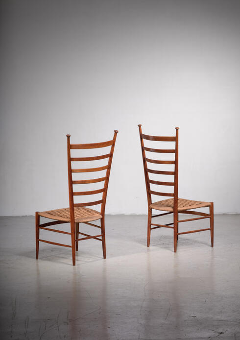Bloomberry - Pair of high-back Chiavari chairs by Sanguineti