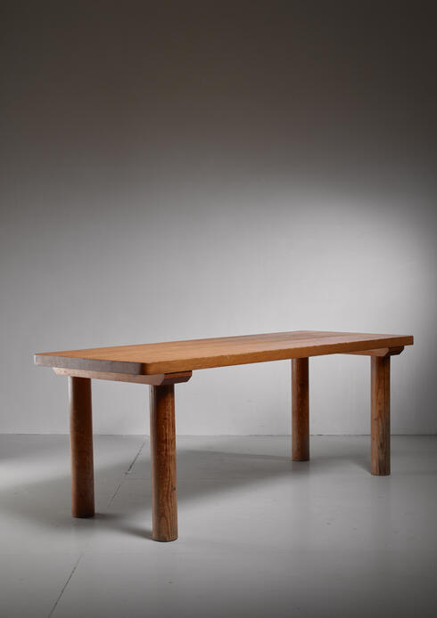 Bloomberry - Charlotte Perriand pine Les Arcs table, France, 1960s