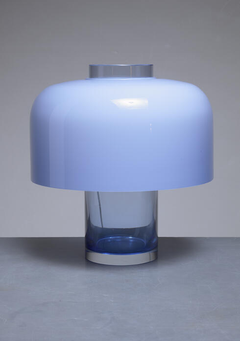 Bloomberry - Carlo Nason table lamp and vase for Mazzega, Italy