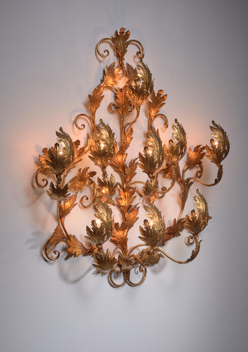 Bloomberry - Very Large gold leaf wall applique