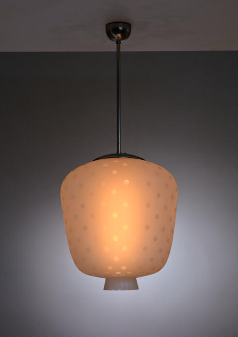 Bloomberry - Frosted dotted glass Scandinavian Modern pendant lamp