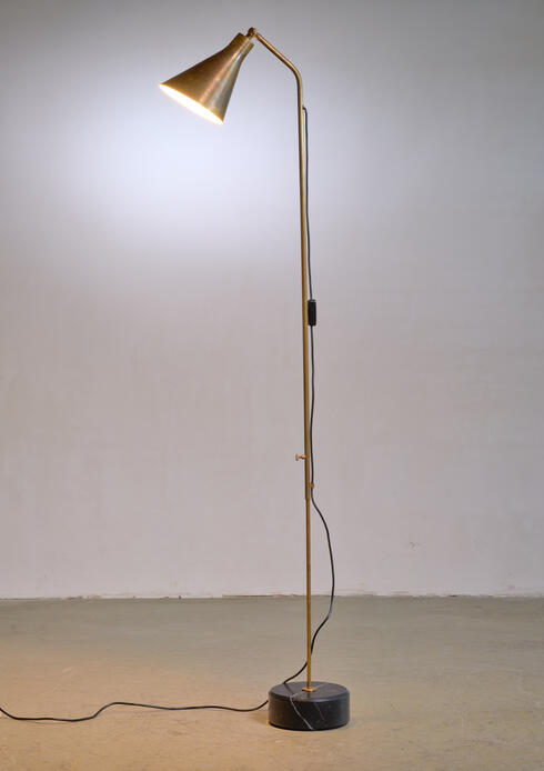 Bloomberry - Brass height adjustable Floor Lamp by Ignazio Gardella for Azucena