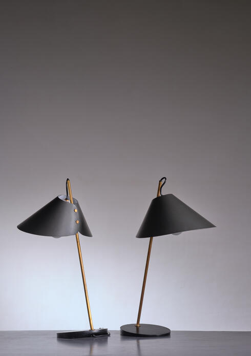 Bloomberry - Pair of Table Lamps by Caccia Dominioni for Azucena