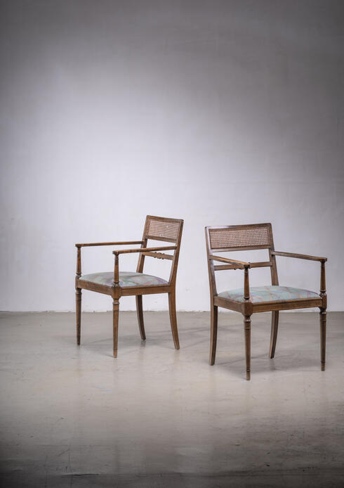 Bloomberry - Axel Einar Hjorth Pair of Armchairs for SMF, Bodafors, Sweden, 1920s