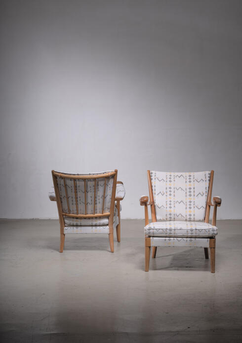 Bloomberry - Carl-Axel Acking pair of armchairs, 1930s