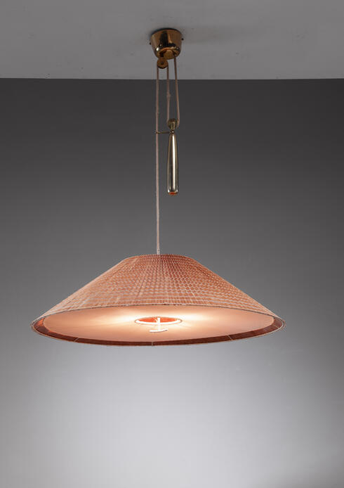 Bloomberry - Very Large Paavo Tynell model 1972 pendant with counterweight for Taito, Finland