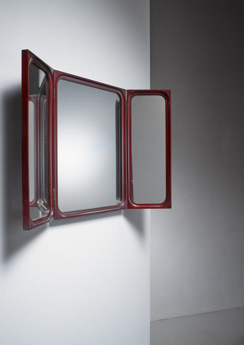 Bloomberry - Frode Holm fold-out triptych wall mirror for Illums Bolighus, Denmark