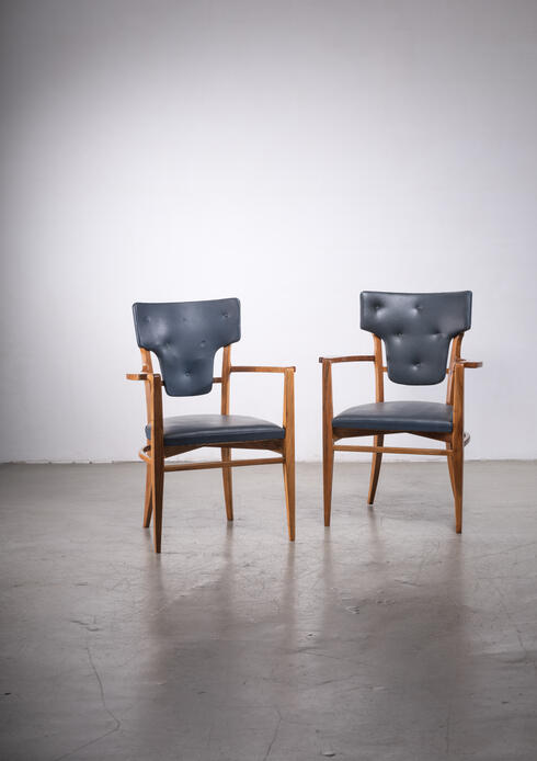 Bloomberry - Pair of very rare Gunnar Asplund armchairs