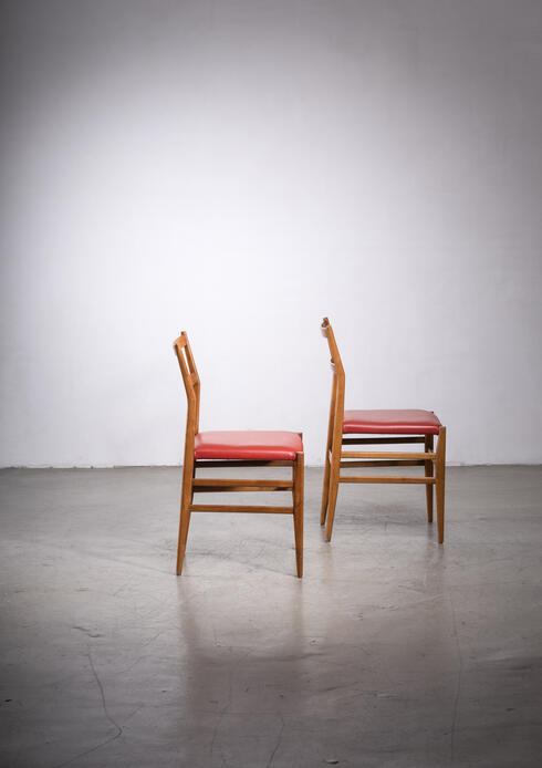 Bloomberry - Pair of Gio Ponti Leggera chairs