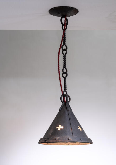 Bloomberry - Jan Koldeweij wrought iron pendant lamp