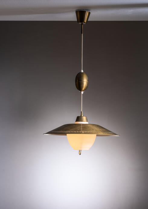 Bloomberry - Bohlmarks height-adjustable brass and glass pendant lamp