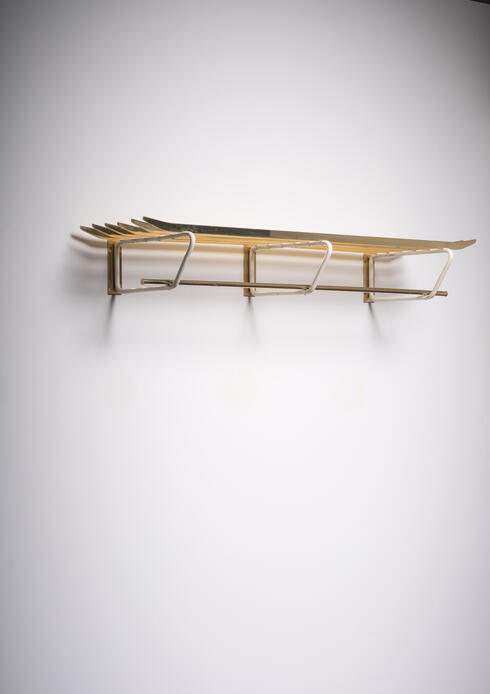 Bloomberry - Brass and white metal coat rack, Austria, 1950s