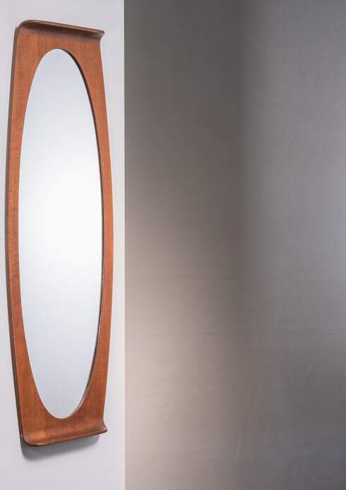 Bloomberry - Franco Campo & Carlo Graffi Mirror in Bent Plywood, Italy