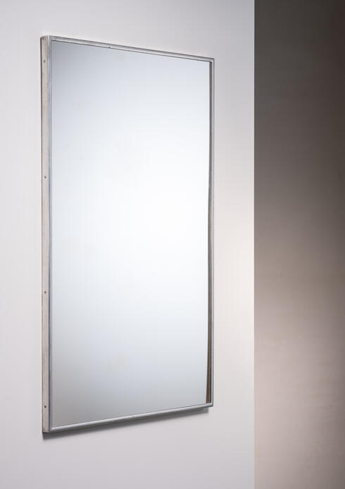 Bloomberry - Large Italian Wall mirror with elegant nickel frame