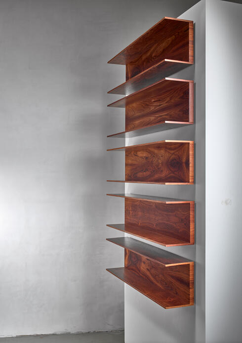 Bloomberry - Set of 5 (from 6) Wilhelm Renz Wooden Open Wall Shelves