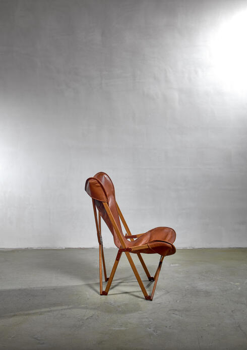 Bloomberry - Tripolina folding chair, Italy, 1930s