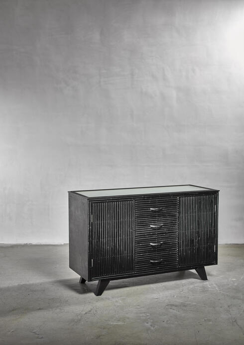 Bloomberry - Bamboo covered oak sideboard by Angrave's