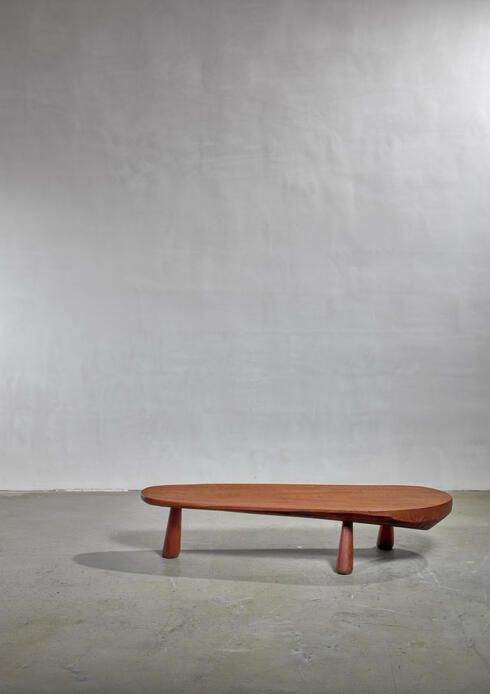 Bloomberry - Solid wood coffee table, France, 1950s