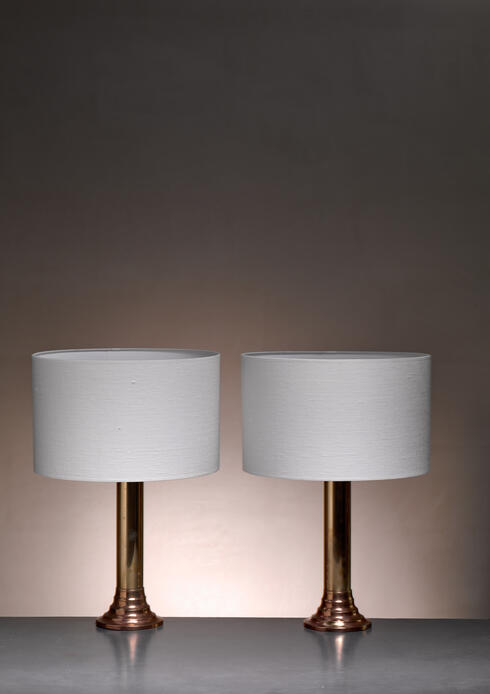 Bloomberry - Bergboms brass table lamps, Sweden, 1950s