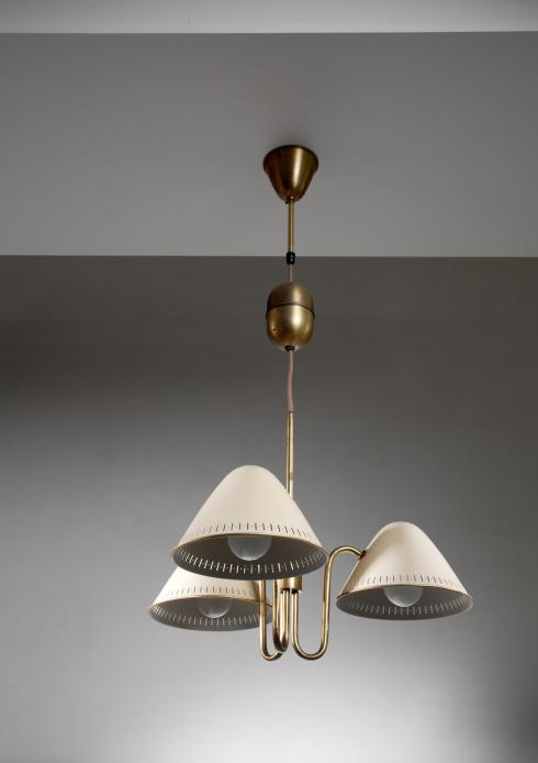 Bloomberry - ASEA three-arm chandelier, Sweden, 1940s