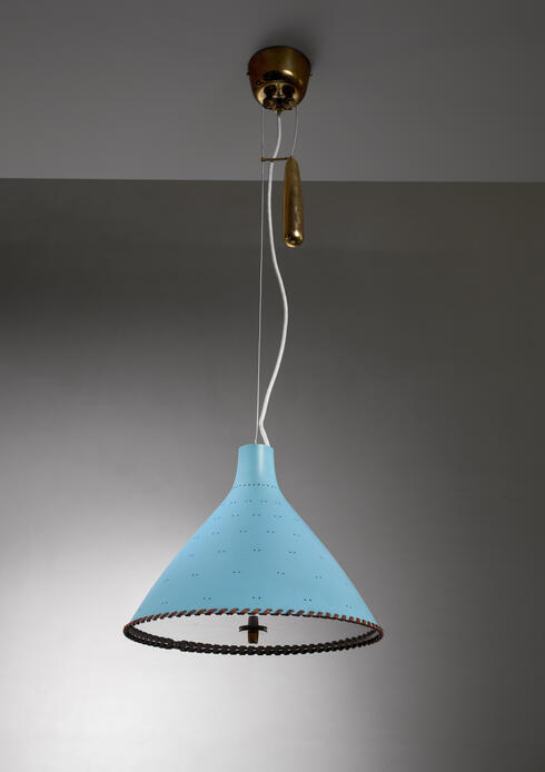 Bloomberry - Paavo Tynell light blue counterweight pendant, Taito, Finland