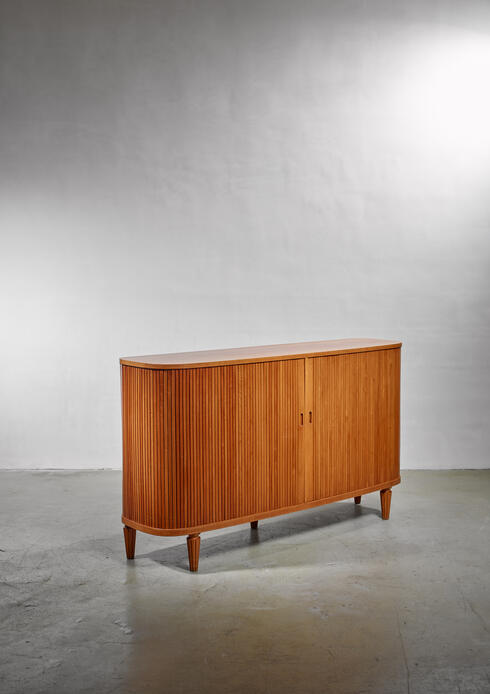 Bloomberry - Swedish  Sideboard with Tambour Doors, 1940s