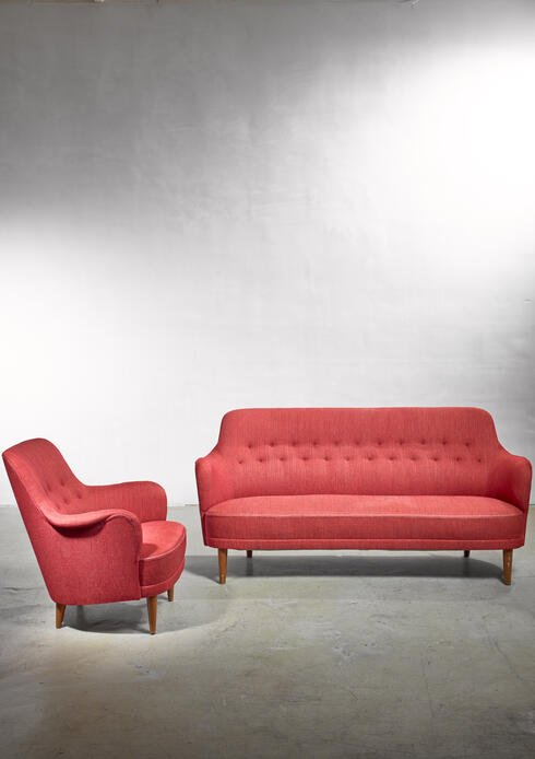 Bloomberry - Carl Malmsten Model Samsas Sofa and Chair