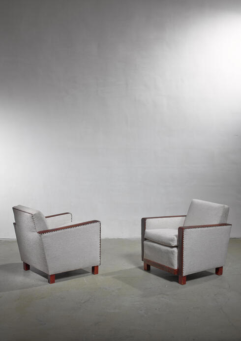 Bloomberry - Bjorn Tragardh pair of easy chairs, Sweden, 1930s