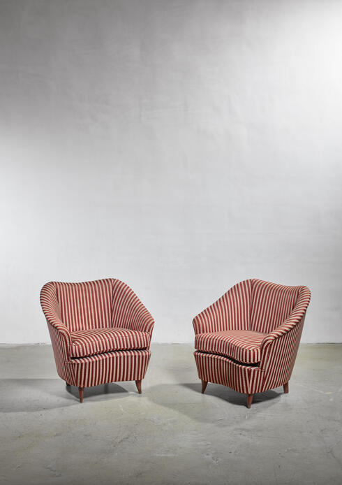 Bloomberry - Gio Ponti pair of lounge chairs, Italy, 1940s