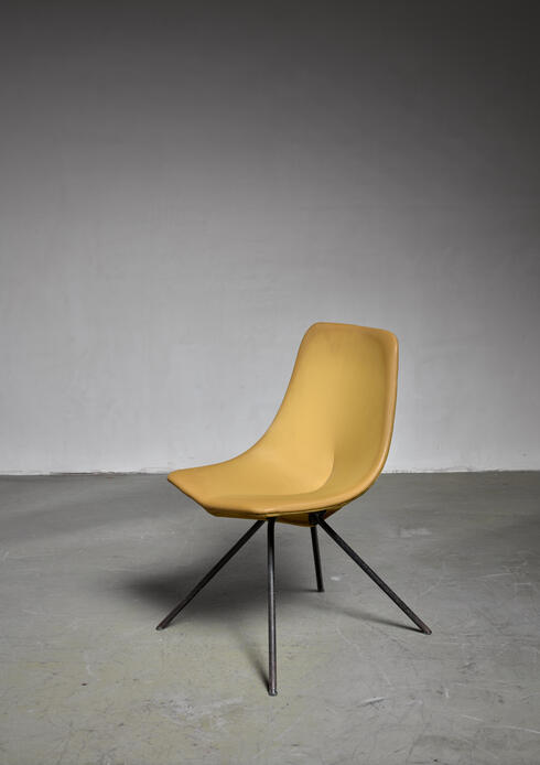 Bloomberry - Rare Gastone Rinaldi DU 30 Chair for RIMA, 1950s