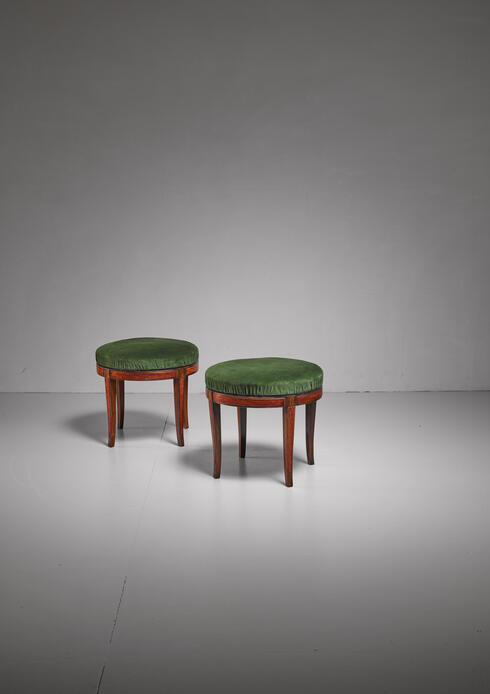Bloomberry - Pair of Boet stools, Sweden, 1920s-30s