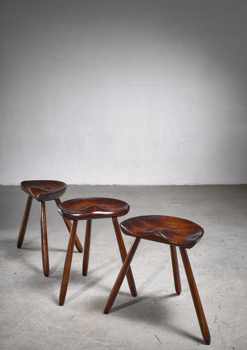 Bloomberry - Arne Hovmand-Olsen set of three tripod stools