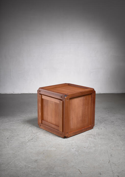 Bloomberry - Pierre Chapo square elm B10 cupboard, France, 1960s