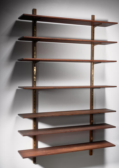 Bloomberry - Large shelving unit with brass brackets